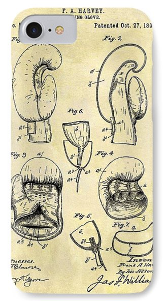 1896 Boxing Gloves Patent IPhone Case by Dan Sproul