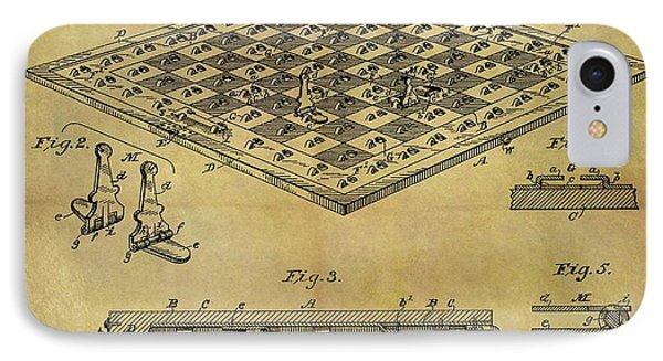 1896 Chess Set Patent IPhone Case by Dan Sproul