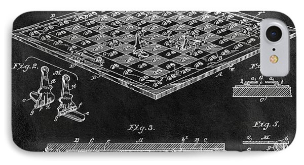 1896 Chessboard Patent IPhone Case by Dan Sproul