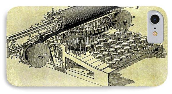 1896 Typewriter Patent IPhone Case