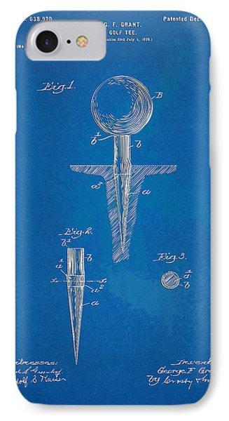 1899 Golf Tee Patent Artwork - Blueprint IPhone Case by Nikki Marie Smith