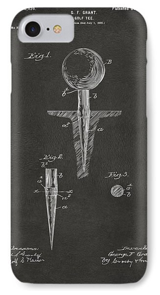 1899 Golf Tee Patent Artwork - Gray IPhone Case by Nikki Marie Smith