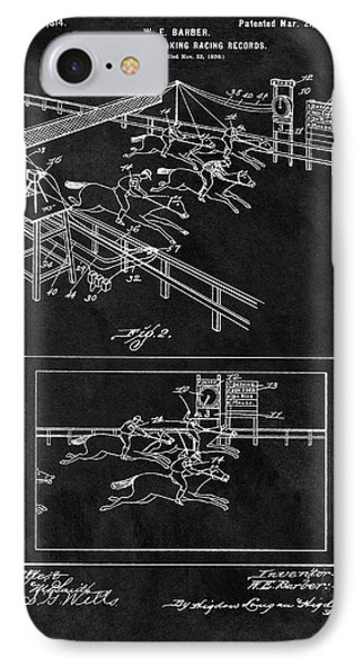 1899 Horse Track Patent IPhone Case by Dan Sproul