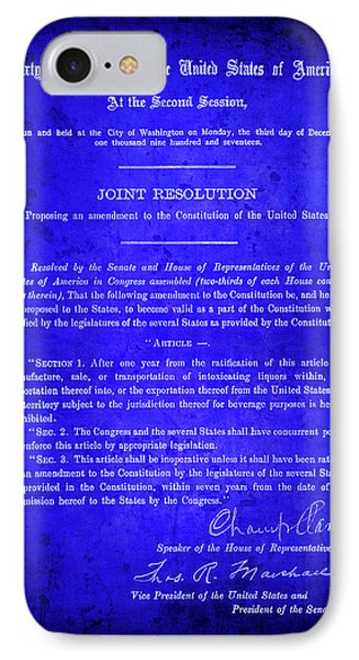 18th Amendment That Launched Prohibition 1917 IPhone Case