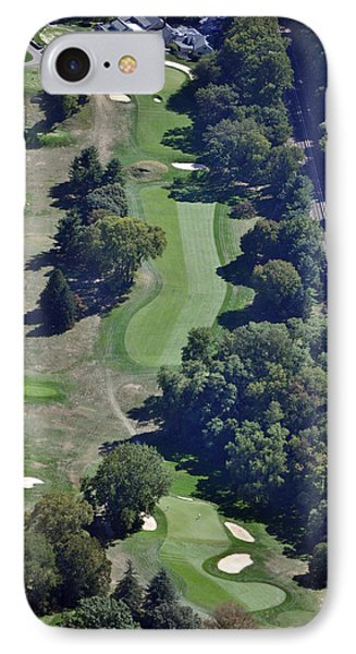 18th Hole Gulph Mills Golf Club Aerial 200 Swedeland Road Conshohocken Pa 19428 IPhone Case by Duncan Pearson
