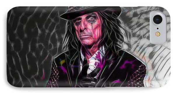 Alice Cooper Collection IPhone Case by Marvin Blaine