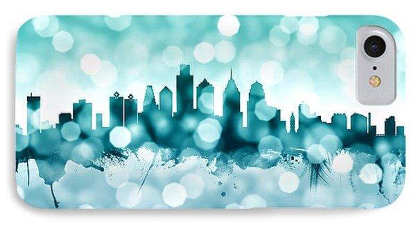 Philadelphia Pennsylvania Skyline IPhone 7 Case by Michael Tompsett