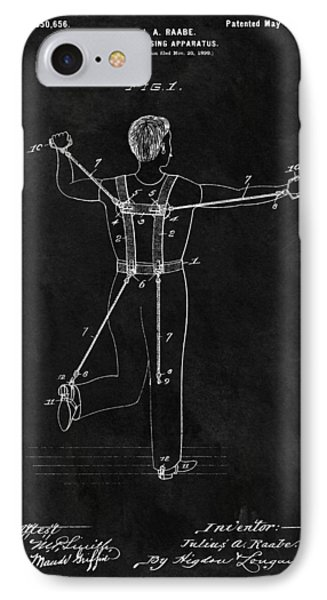 1900 Exercise Equipment Patent IPhone Case by Dan Sproul