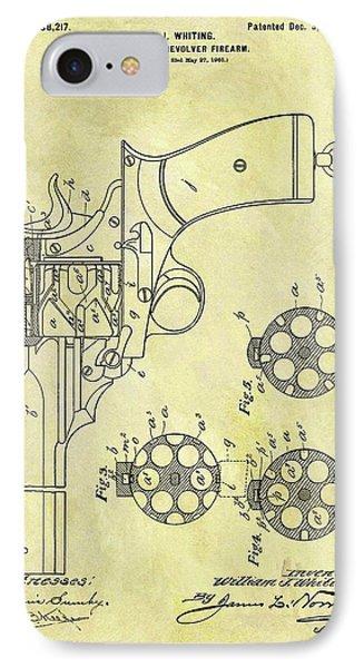 1901 Automatic Revolver Patent IPhone Case