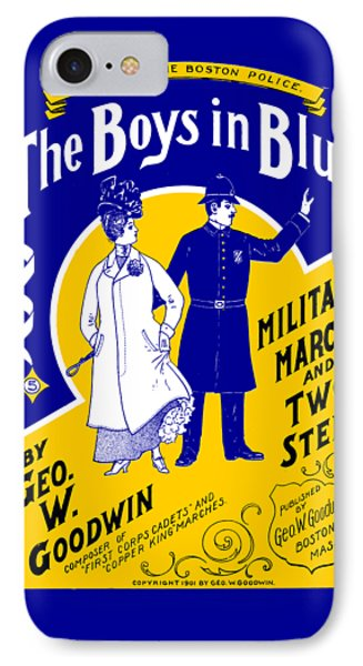 1901 The Boys In Blue, The Boston Police IPhone Case by Historic Image