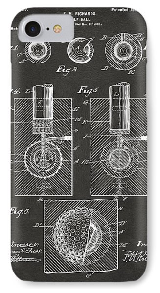 1902 Golf Ball Patent Artwork - Gray IPhone Case by Nikki Marie Smith