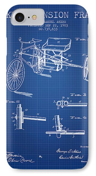 1903 Bike Extension Frame Patent - Blueprint IPhone Case by Aged Pixel