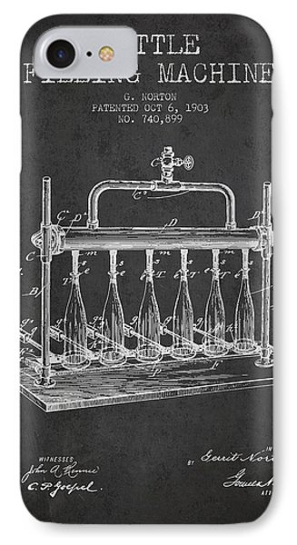 1903 Bottle Filling Machine Patent - Charcoal IPhone Case