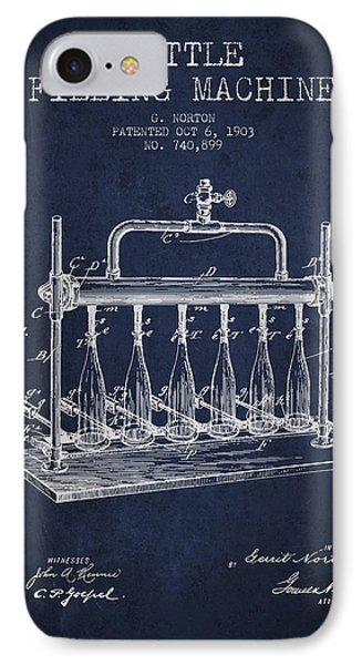 1903 Bottle Filling Machine Patent - Navy Blue IPhone Case