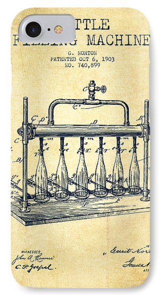 1903 Bottle Filling Machine Patent - Vintage IPhone Case by Aged Pixel