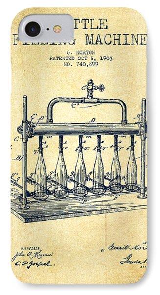 1903 Bottle Filling Machine Patent - Vintage IPhone Case