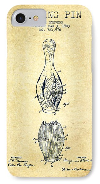 1903 Bowling Pin Patent - Vintage IPhone Case
