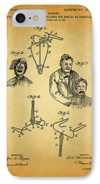 1904 Dental Forceps Patent IPhone Case by Dan Sproul