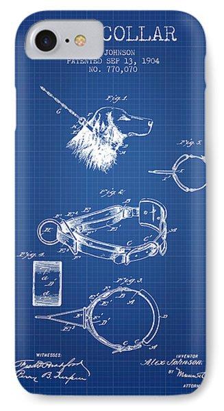 1904 Dog Collar Patent - Blueprint IPhone Case