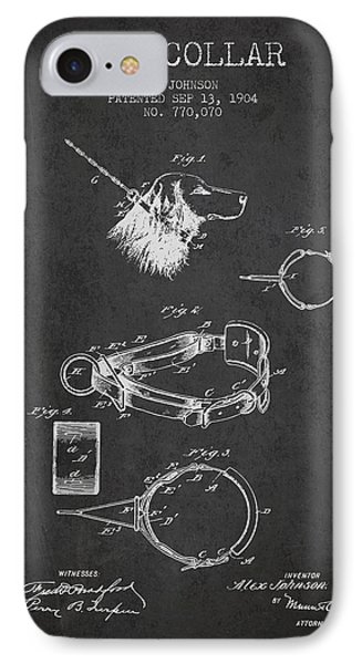1904 Dog Collar Patent - Charcoal IPhone Case