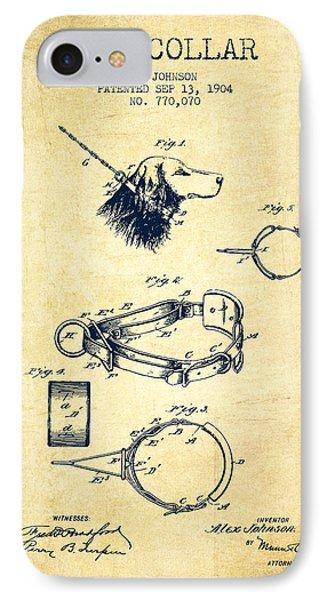 1904 Dog Collar Patent - Vintage IPhone Case