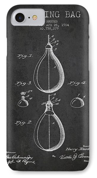 1904 Punching Bag Patent Spbx12_cg IPhone Case by Aged Pixel