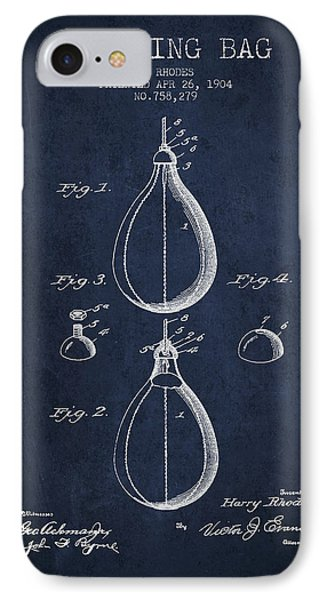 1904 Punching Bag Patent Spbx12_nb IPhone Case by Aged Pixel