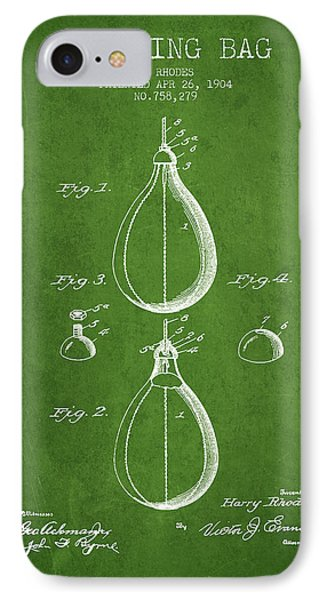 1904 Punching Bag Patent Spbx12_pg IPhone Case by Aged Pixel
