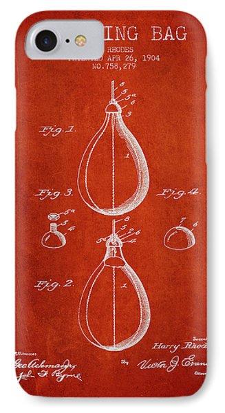 1904 Punching Bag Patent Spbx12_vr IPhone Case