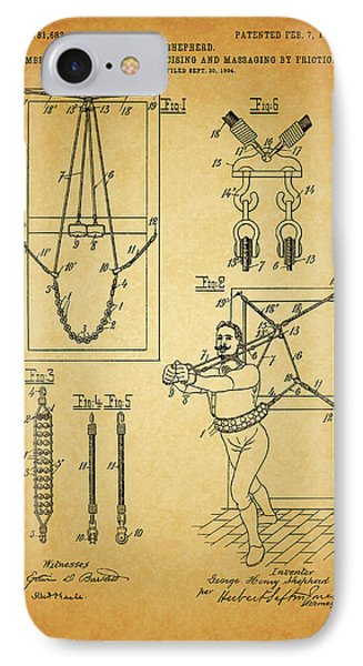 1905 Exercise Apparatus Patent IPhone Case by Dan Sproul
