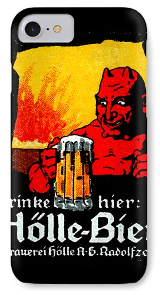 1905 German Beer Poster IPhone Case by Historic Image