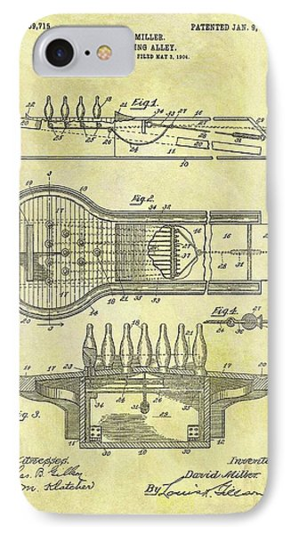 1906 Bowling Alley Patent IPhone Case