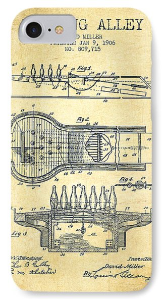 1906 Bowling Alley Patent - Vintage IPhone Case