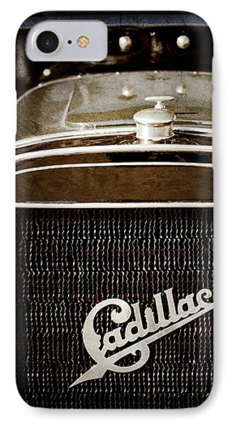 IPhone Case featuring the photograph 1907 Cadillac Model M Touring Grille Emblem -1106ac by Jill Reger