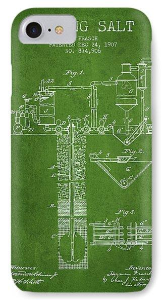 1907 Mining Salt Patent En36_pg IPhone Case by Aged Pixel