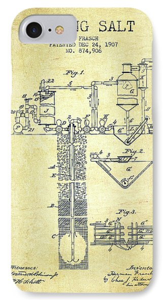1907 Mining Salt Patent En36_vn IPhone Case by Aged Pixel