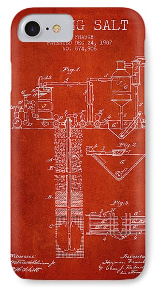 1907 Mining Salt Patent En36_vr IPhone Case by Aged Pixel
