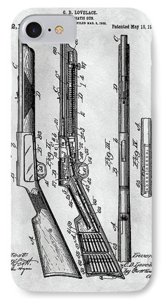 1909 Automatic Rifle Patent IPhone Case