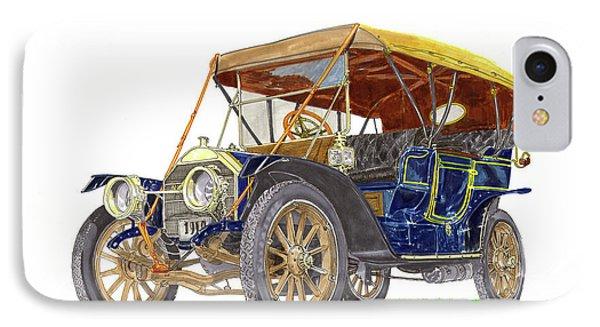 1910 Knox Model R 5 Passenger  Touring Automobile IPhone Case by Jack Pumphrey