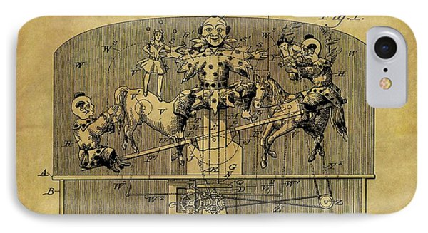 1910 Toy Circus Patent IPhone Case by Dan Sproul