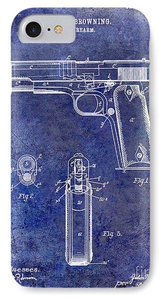 1911 Firearm Patent Blue IPhone Case
