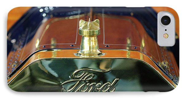 1911 Ford Model T Runabout Hood Ornament Phone Case by Jill Reger