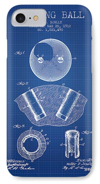 1912 Bowling Ball Patent - Blueprint IPhone Case