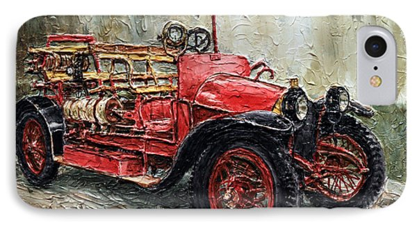 1912 Porsche Fire Truck IPhone Case by Joey Agbayani