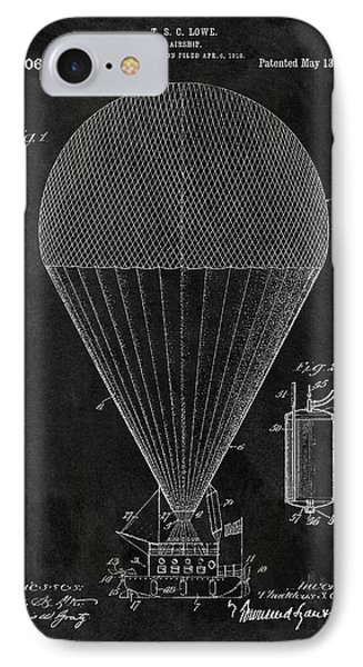 1913 Airship Patent IPhone Case by Dan Sproul