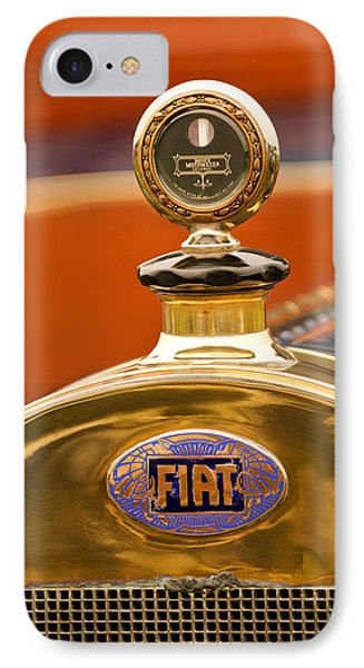 1913 Fiat Type 56 7 Passenger Touring Hood Ornament IPhone Case by Jill Reger
