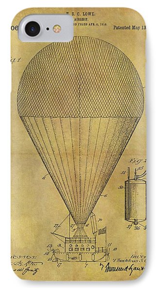 1913 Hot Air Balloon Patent IPhone Case