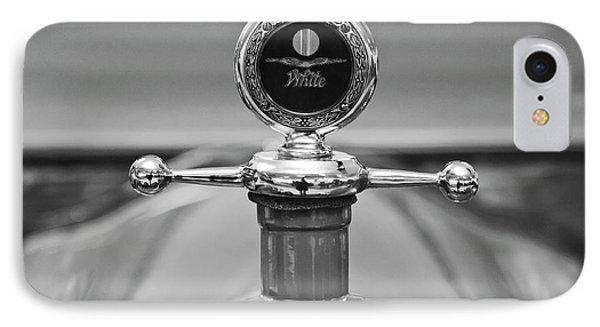 1913 White Gentlemans's Roadster Hood Ornament 2 Phone Case by Jill Reger