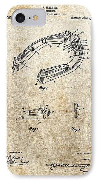 1914 Horseshoe Patent IPhone Case by Dan Sproul