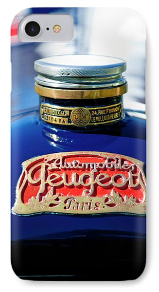 1914 Peugeot L45 Hood Ornaments Phone Case by Jill Reger